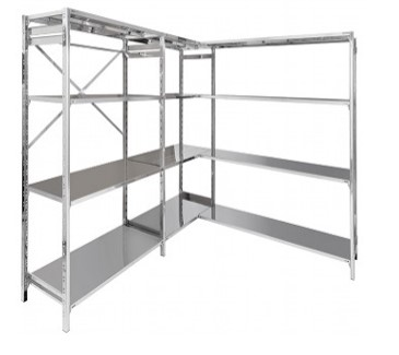 Aisi 304 steel shelves with hook fixing