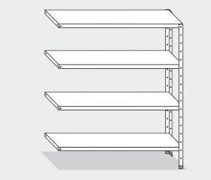 EU77763-12 scaffale con 4 ripiani lisci ECO cm 120x30x180h kit laterale