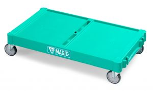 T09070401 Base Magic Grande - Verde - Ruote Con Freno Ø 100