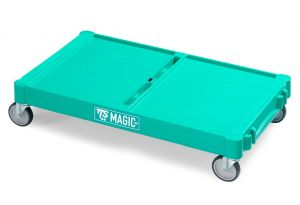 T09070412 Base Magic Grande - Verde - Ruote per Esterni Ø 12
