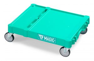 T09080411 Base Magic Piccola - Verde - Ruote Con Freno Ø 125
