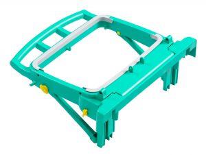 T090820 Portasacco Magic 120 L Pieghevole - Verde