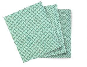 TCH603040 Panno Basic-T - Colore Bianco-Verde - 1 Confezione da 10 pezzi