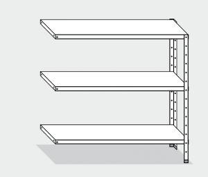EU77963-11 scaffale con 3 ripiani lisci ECO cm 110x30x150h kit laterale