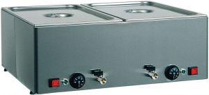 BMV21 Tavola calda banco bagnomaria inox 2x1/1GN Temperature differenti 66x54x22h