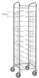 CA1455V12 Universal tray-holder trolley for 12 trays