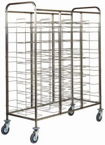 CA1475 Stainless steel Universal tray-holder trolley for 30 trays