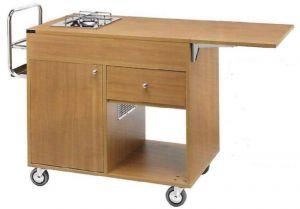 CL 1201 Flambé cart 1 cooking range 2 Fires