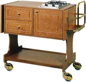 CL 2752 Flambé trolley 2 cooking range with 1 fire each