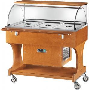 CLR2787NBT Carrello legno refrigerato (-5°+5°C) 3x1/1GN cupola/pianetto