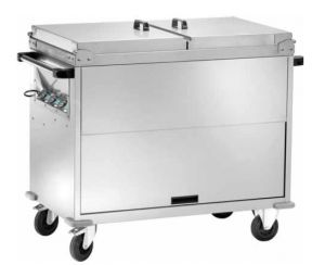 CT1770TD Carrello bagnomaria inox armadiato coperchi 3x1/1GN Temperatura differenz