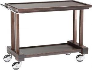 LP1000W Carrello servizio legno massello Wengé 2 piani 115x55x82h