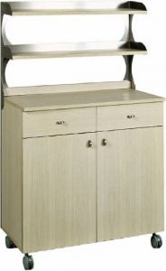 ML3212SS Stainless steel double shelf support service cabinet