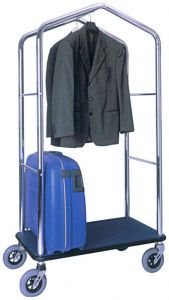 PV4056 Luggage and clothing stand trolley in chromed steel