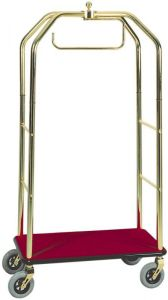 PV4062  Trolley luggage rack and hangers Brass steel