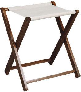 RE4019 Luggage rack walnut wood rack cotton cloth