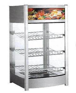 RTR97 Stainless steel Countertop warming display 3 shelves +30 + 90°C
