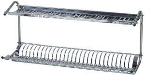 SPB1398 Stainless steel dish/glass drying rack on wall 80x26x37
