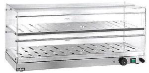 VBR4786 Warmed display-case 2 shelves 85x35x25h