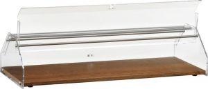 VL4749 Neutral showcase display for brioches Wood Plexiglass cover 85x35x21h