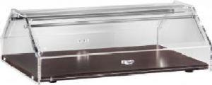 VL4749W Neutral showcase display for brioches Wood Plexiglass cover 85x35x21h
