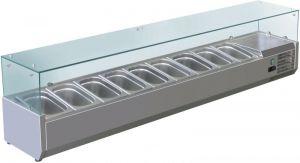 VRX1800-330-FC Vetrina refrigerata inox aisi 201 per bacinelle