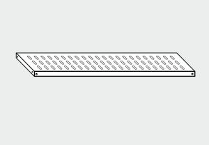 EU78066-16 ripiano forato per scaffale ECO cm 160x60x4h