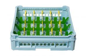 GEN-K34x6 CESTA CLASSICA 24 SCOMPARTI RETTANGOLARI - Altezza bicchiere da 120mm a 240mm
