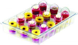 ITP801 Porta mini bicchieri in policarbonato per monoporzioni per vetrine gelato