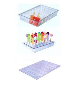 ITP806 Porta stecchi + portastecco verticale in policarbonato  per vetrine gelato