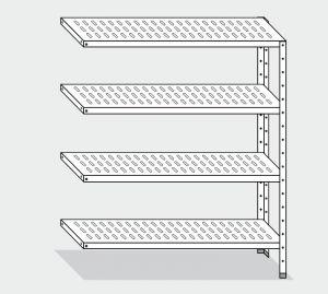 EU78763-14 scaffale con 4 ripiani forati ECO cm 140x30x180h kit laterale