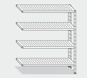 EU78863-09 scaffale con 4 ripiani forati ECO cm 90x30x200h kit laterale