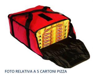 BTD5020 Borsa termica alto isolamento per 3 cartoni pizza ø 50 cm