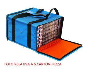 BTR4020 Borsa termica rigida per 4 cartoni pizza ø 40 cm zip