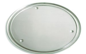 VP45 Vassoio alluminio ø 45 cm con bordo e piedini