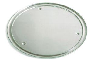 VP50 Vassoio alluminio ø 50 cm con bordo e piedini