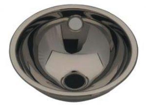 LX1020 Lavabo sferico in acciaio inox scarico centrale 260X290X125 mm - LUCIDO -