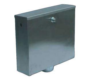 LX3200 Cassetta di scarico a pulsante o pneumatica 400x112x373 mm SATINATO