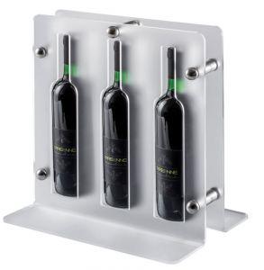 EV02201 TRIO - Espositore satinato per vino per bottiglie ø 7,5 cm
