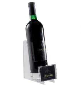 EV04201 EASY 3  Espositore vino con sede targhetta per bottiglie ø 8,2 cm