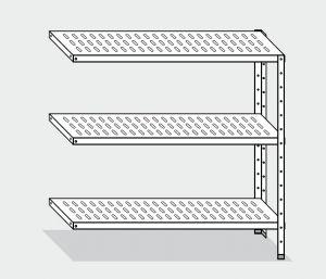 EU78964-13 scaffale con 3 ripiani forati ECO cm 130x40x150h kit laterale