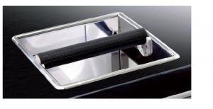CBC001 Cornice Batticaffe' inox Dimensioni 250 mm x 250 mm