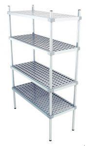 Scaffale in alluminio 4 ripiani dim. cm 150x50x180h code: SN50150H180