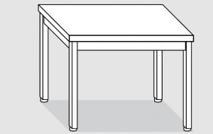 EUG2108-08 tavolo su gambe ECO cm 80x80x85h-piano liscio