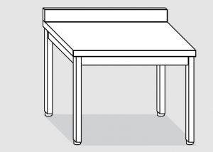 EUG2118-14 tavolo su gambe ECO cm 140x80x85h-piano con alzatina