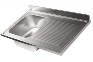 LV6011 Top sink stainless steel dim.1200X600 1 bowl 1 drainer right