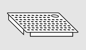EU91102-03 Falsofondo in acciaio inox forato a sinistra dim. cm 40x40 per vasche
