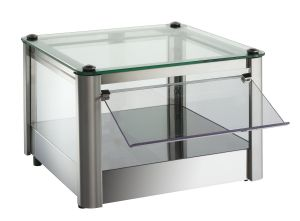 VKB31N Neutral countertop display cabinet 1 PIANO in stainless steel sheet