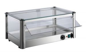 VKB31R 1 PIANO hot counter display cabinet in stainless steel sheet