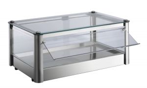 VKB51N Neutral countertop display cabinet 1 PIANO in stainless steel sheet